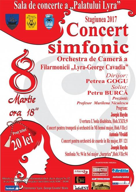 Concert Simfonic dedicat Zilei Internationale a Femeii.