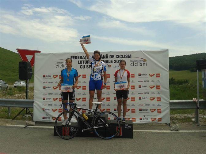 Doua medalii de bronz pentru ciclistele de la CSM Braila