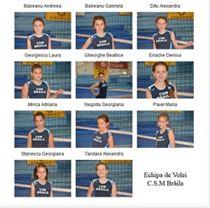 echipa de minivolei CSM Braila