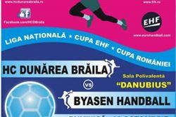 Dunarea Braila intalneste astazi pe Byasen, in Cupa EHF