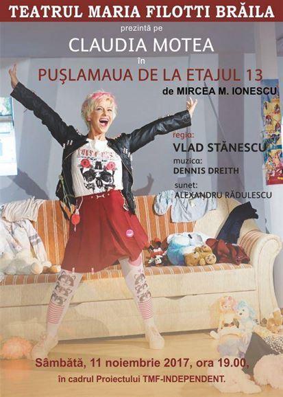 PUȘLAMAUA DE LA ETAJUL 13 in sala Bujor Macrin a Teatrului Maria Filotti