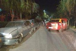 Un taximetrist baut, a lovit trei autoturisme