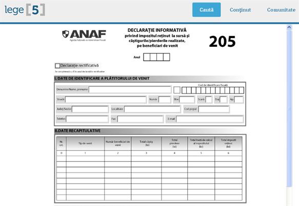 28 februarie 2017 – termen limită de depunere a formularului 205
