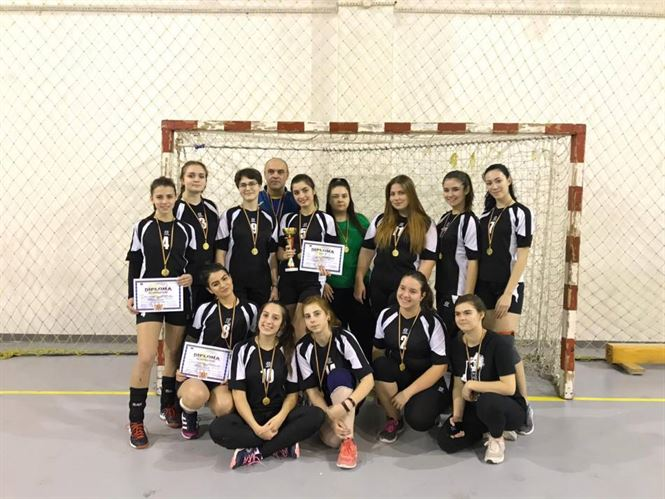 Echipa Colegiului Murgoci a câștigat faza județeană a ONSS la handbal fete liceu