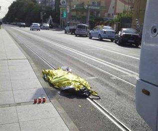 Accidentata mortal de autobuzul care pleca din statie
