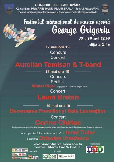 Recitalurile Festivalului George Grigoriu - ediția 2019