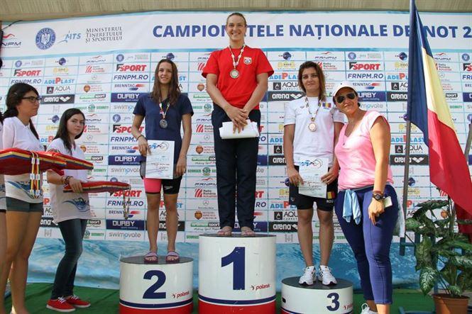 Alina Ene locul 3 la 50 m fluture