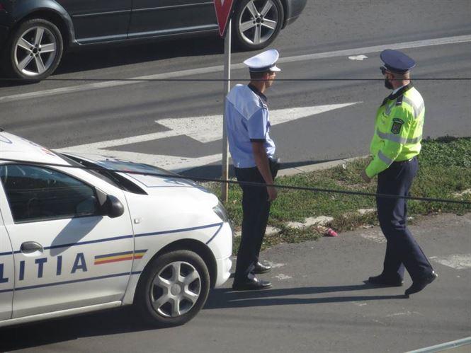 Poliția în acțiune.