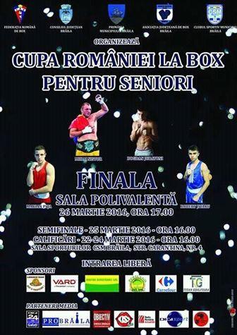 Braila gazduieste Cupa Romaniei la box pentru seniori