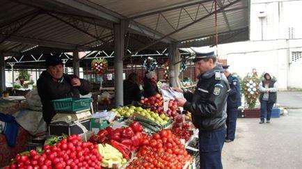 Controale ale politistilor in zona pietelor