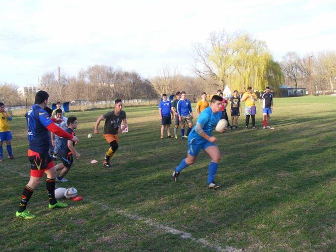 Rugby-stii de la RC Braila au avut parte de o vizita surpriza
