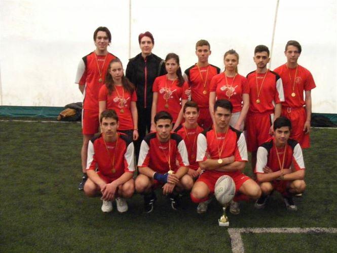 Echipa liceului A. Saligny a castigat faza judeteana a ONSS la rugby-tag licee