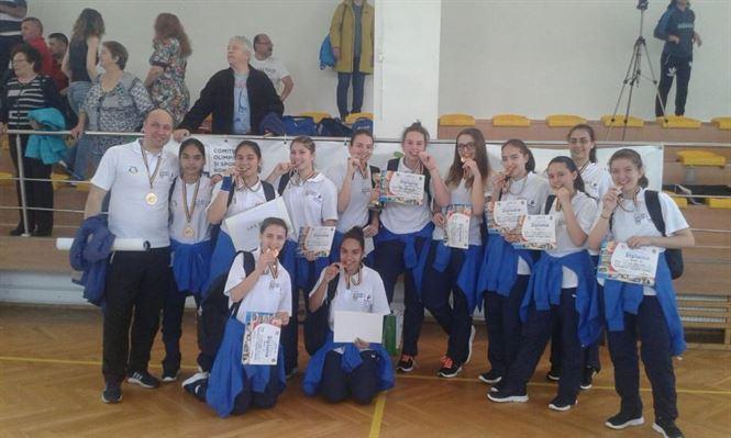 Fetele de la LPS Braila au castigat medaliile de bronz la ONSS handbal fete nivel gimnazial
