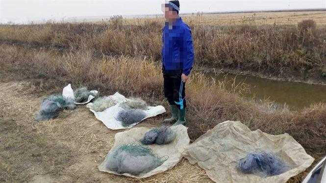 Pescuit ilegal cu peste 300 de metri de plasă monofilament