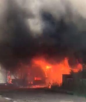 Incendiu la Valea Cânepii