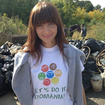 O braileanca a mobilizat 200.000 de voluntari sa curete Romania intr-o singura zi