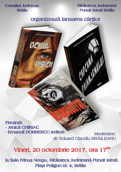 Tripla lansare de carte - Cosmina Posedaru
