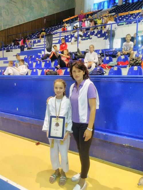 Maria Naidin, medaliata cu bronz la nationalele de judo U 13