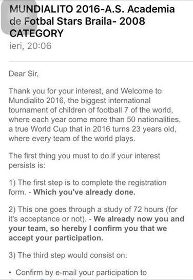 Invitatie turneu international