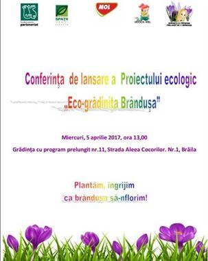 """Proiectul de educație ecologică """"Eco- Grădinița Brândușa"""""""