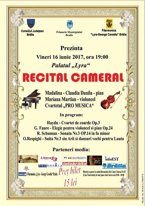 Recital cameral la Filarmonica Lyra