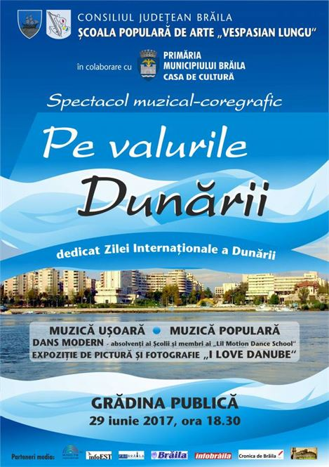 """Spectacol """"Pe valurile Dunarii"""" sustinut de Scoala Populara de Arte """"Vepasian Lungu"""""""