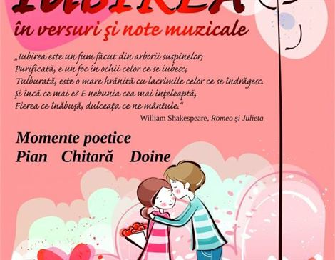 "De Dragobete, spectacol de muzica si poezie la Scoala populara de arte ""Vespasian Lungu"""