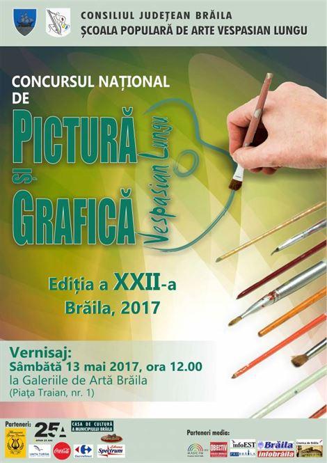 """Concursului Naţional de Pictură şi Grafică """"VESPASIAN LUNGU"""" își va premia sâmbătă câștigătorii"""