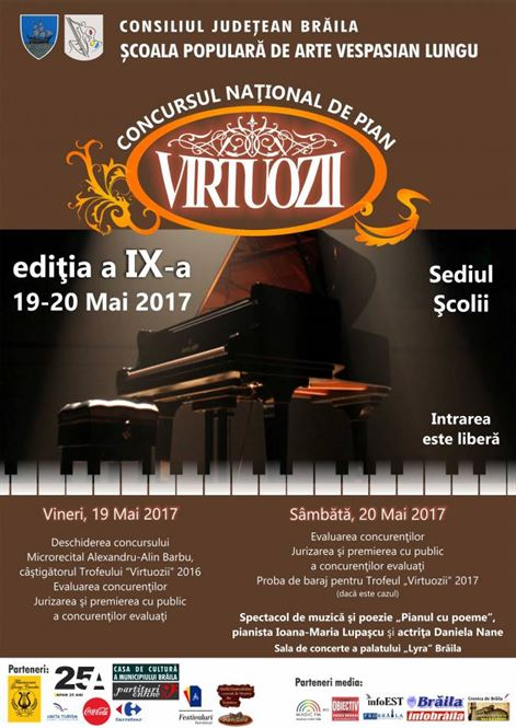 Recital de pian si poezie,  sustinut de pianista Ioana-Maria Lupascu si actrita Daniela Nane