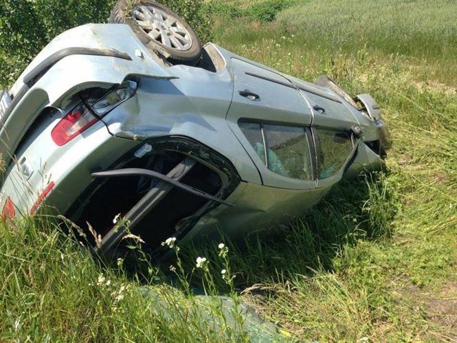 Sofer din Republica Moldova rasturnat cu masina pe DE 584