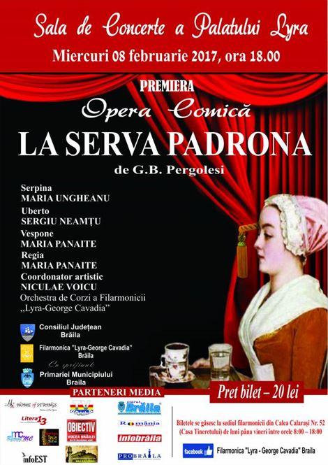 "Premierea operei comice ""La Serva Padrona"""