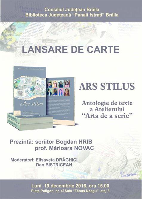 Lansare de carte la Biblioteca Judeteana Braila