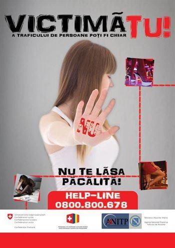 """Campania """"Victima a traficului de persoane poti fi chiar TU!"""" se desfasoara si la Braila"""