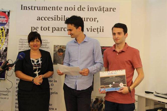"""Bogdan Stoica, premiul I la Concursul """"Fără Ură, cu toleranță"""""""