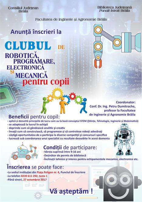 Club de Robotică la Biblioteca Judeteana