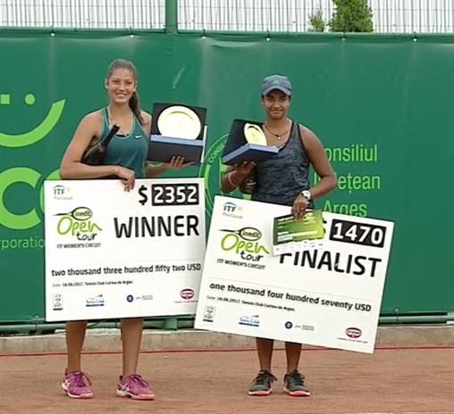 Braileanca Georgia Craciun a castigat turneul ITF de la Curtea de Arges