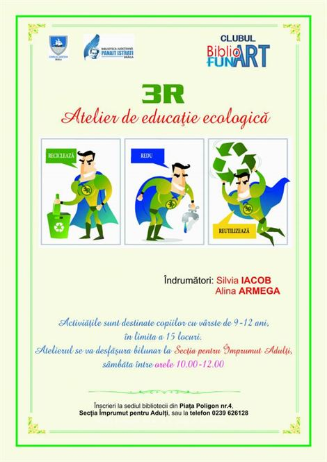 Atelier educatie ecologica la Biblioteca Judeteana