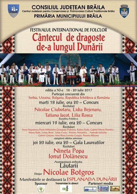 """Recitaluri de exceptie la Festivalul """"Cantecul de dragoste de-a lungul Dunarii"""""""
