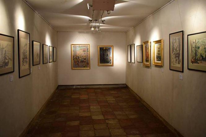 """Expoziţie de grafică şi pictură """"Veneţia în operele artiştilor brăileni"""""""