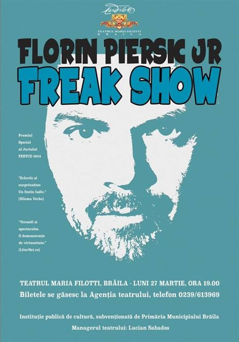 One man show cu Florin Piersic jr. pe scena teatrului brailean