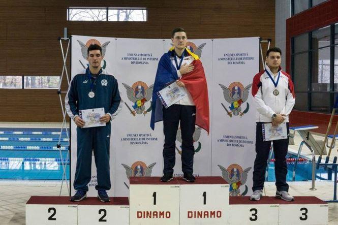 Politist brailean, campion la campionatul balcanic de inot al politistilor
