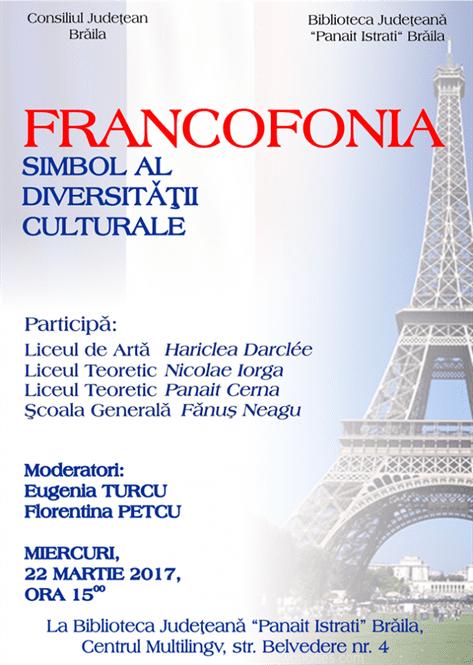 Concurs scolar Francofonia – simbol al diversității
