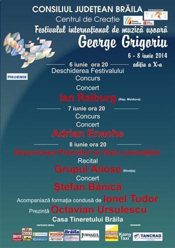 """Incepe Festivalul International de Muzica Usoara """"George Grigoriu"""""""