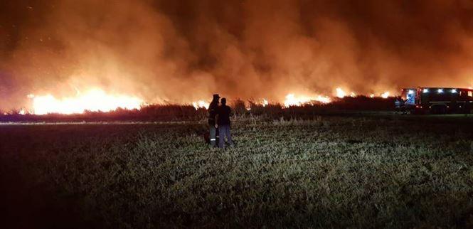 Echipele ISU Brăila au intervenit anul acesta la 86 de intervenţii pentru limitarea şi lichidarea incendiilor de vegetaţie uscată