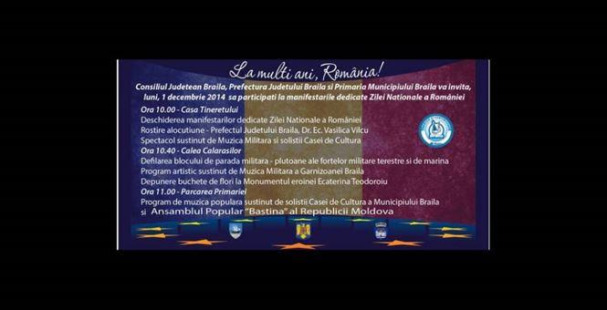Vedeti aici programul pregatit de autoritati pentru Ziua Nationala a Romaniei