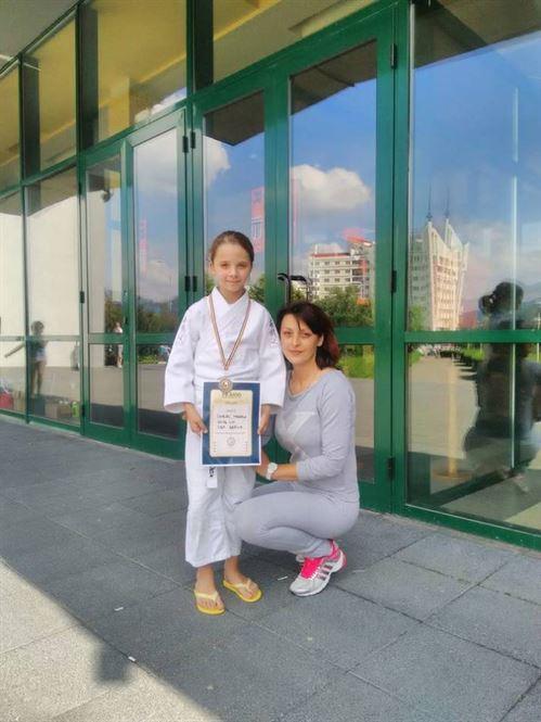 Bianca Chirac medalie de bronz la nationalele de judo U 11
