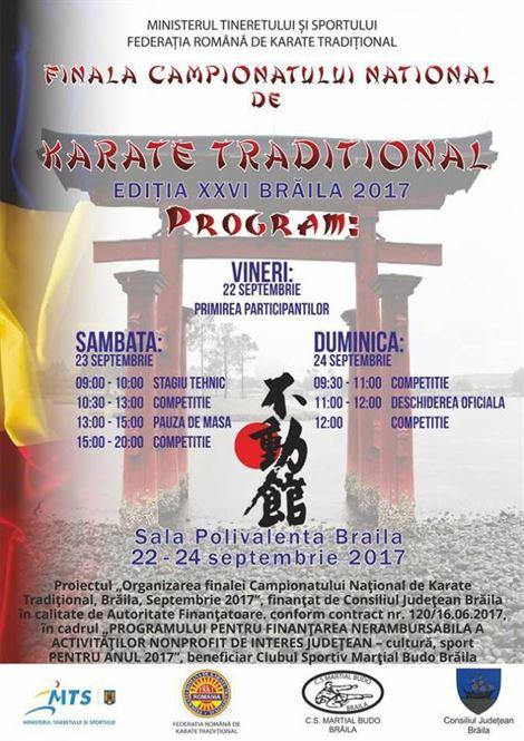 Braila este gazda finalei campionatului national de Karate Tradițional