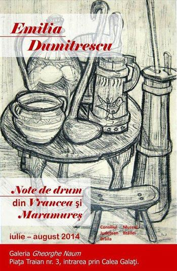 Note de drum din Vrancea si Maramures, expozitie de Emilia Dumitrescu